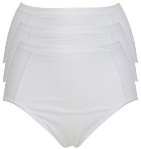 Ex Store Light Control Modal High Leg Knickers White