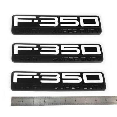 2x OEM F-350 Lariat Super Duty Emblems Badge W 3D for Ford F350 Lariat Black