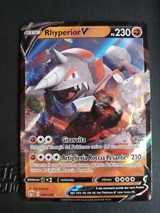 Pokemon Scudo E Spada Fiamme Oscure  Rara Foil Holo Rhyperior V 095/189 ITA mint