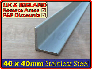 Details about Stainless Steel Angle ║ 40 x 40 mm ║ marine,316,L section  iron,profile,bracket