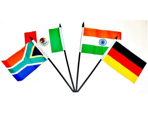 "Group of 20 G-20 World Flag SET-One Polyester 4/""x6/"" Flag for Each Country"