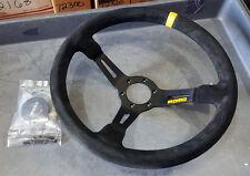 """SALE MOMO Race Steering Wheel Mod 08 Black Suede 350mm / 13.8"""""""