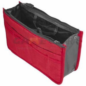 Image Is Loading Red Women Travel Insert Handbag Organiser Purse Large