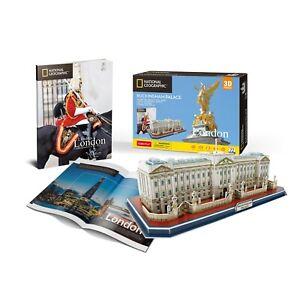 National-Geographic-El-Palacio-De-Buckingham-Rompecabezas-3D-Modelo-folleto-PL