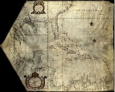 "1771 ""Corsica"" Vintage Style Mediterranean Sea Map 20x36"