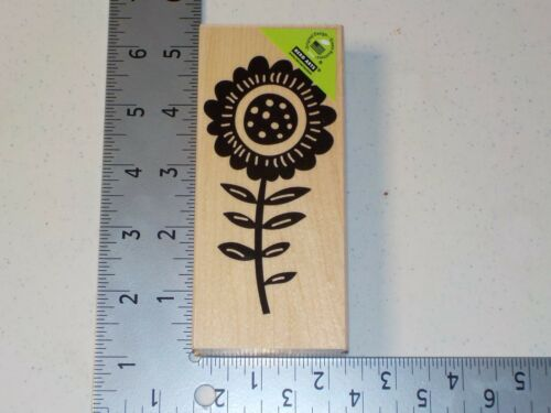 HERO ARTS #K5723 TALL FLOWER WOOD MOUNT RUBBER STAMP NEW A1492