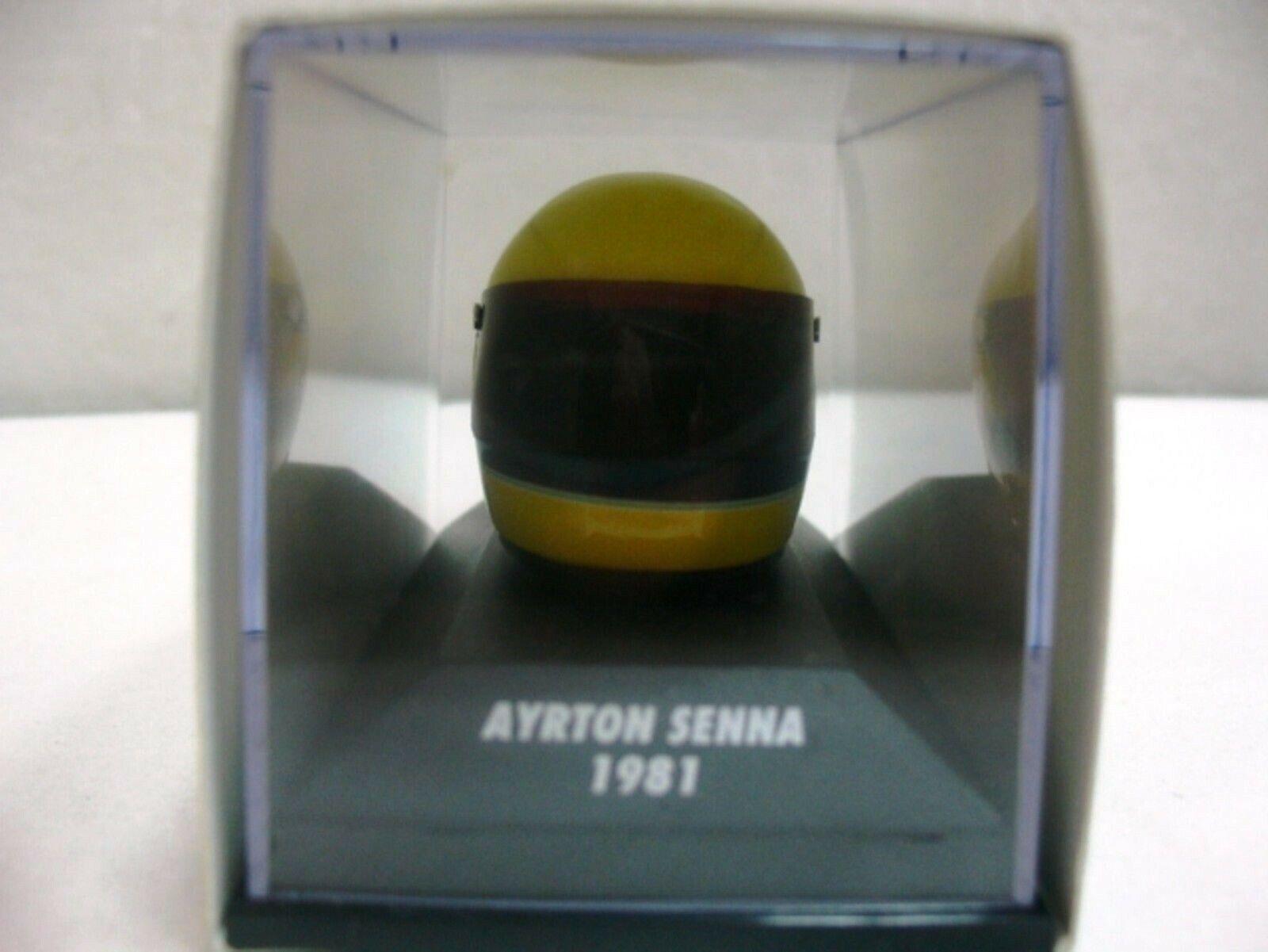 Wow extrêmement rare rare rare CASQUE SENNA 1981 Arai champion de Formule F1600 1 8 Minichamps 9d52d3