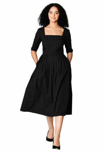Women Ladies Elbow Length Sleeve Casual Party Evening Winter Midi Dress