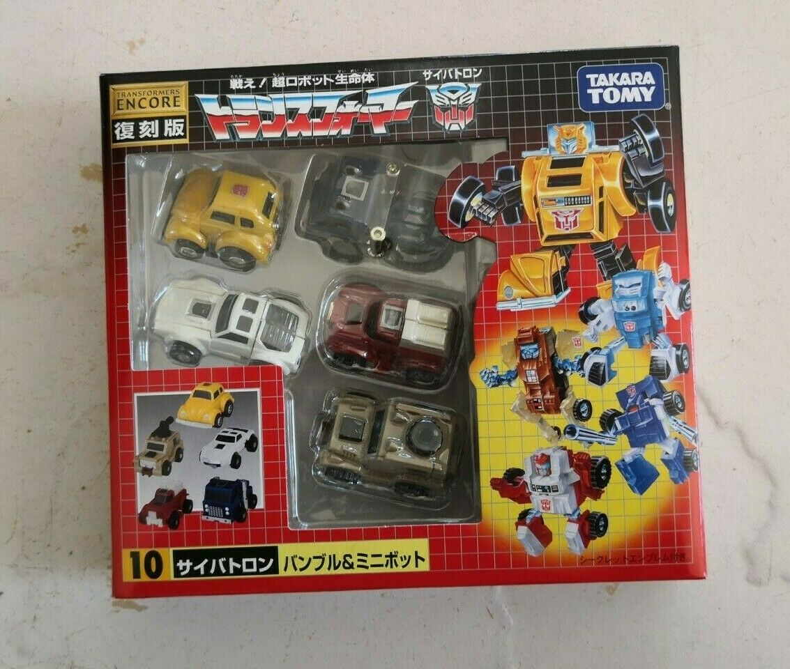 G1 TransFormers Encore  10 MINIBOTS Bumblebee, Swerve, Pipes, Outback & Tailgate
