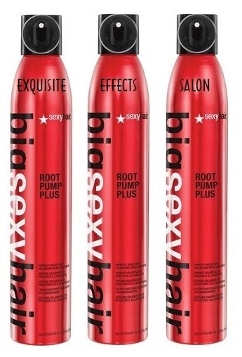 3 (THREE) Big Sexy Hair Root Pump Plus Spray Mousse 10 oz. - NEW & Authentic!