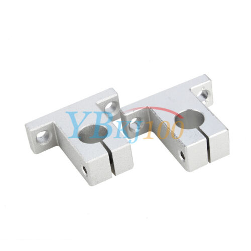 Durable 2Pcs SK8//10//12//16 Bearing CNC Aluminum Linear Rail Shaft Guide Support