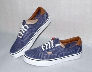 Details zu Vans Era 59 Washed Herringbone Herren Schuhe Canvas Boots 40,5 41 44,5 Navy Weiß