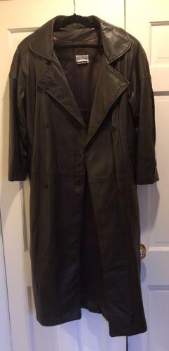 Hugo Buscati Milano Women's Long Leather Jacket Da