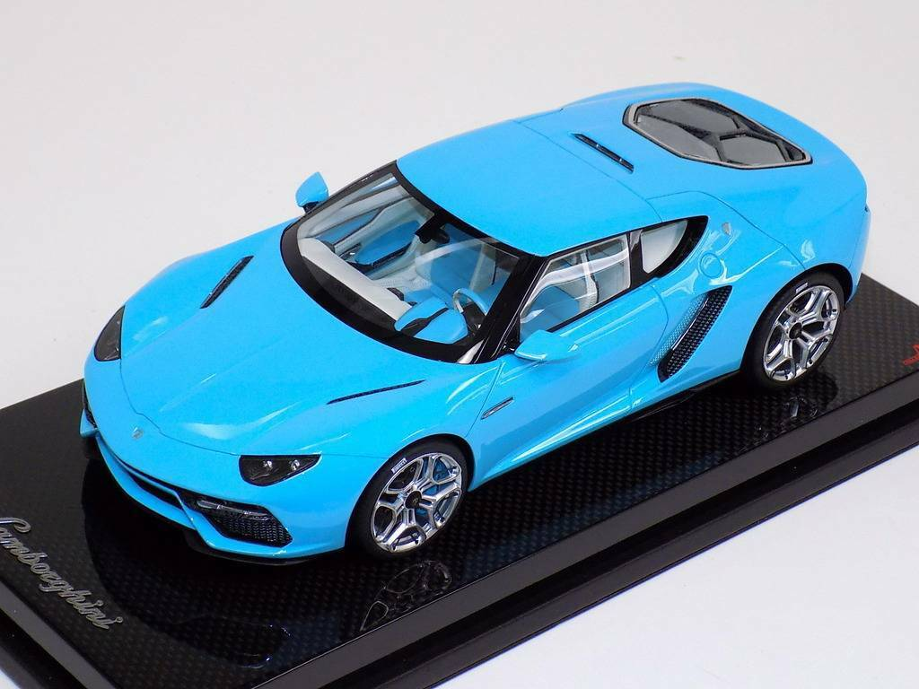 1 18 MR Collection Lamborghini Asterion LPI 910-4 Baby bluee Carbon Base of 25