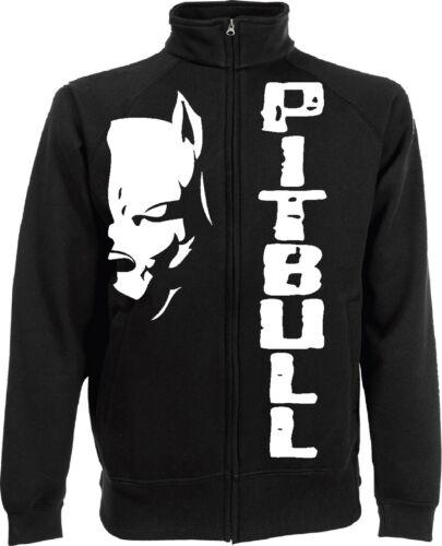 Sweatshirt Jacke Pitbull Kampf Hund Kick Boxing Boxe Jacke Geschenkidee