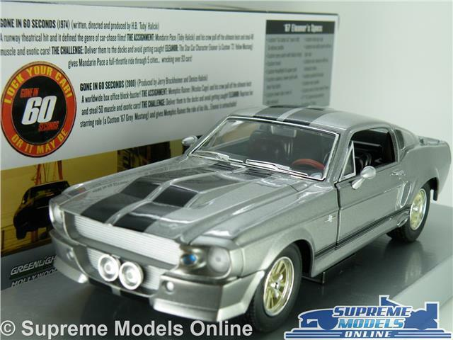 FORD MUSTANG ELEANOR MODEL CAR 1 24 SCALE GONE IN 60 SECONDS LARGE GREENLIGHT K8