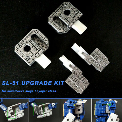 4 Pcs 3D Print SL-51 Upgrade Kit Accessories for Soundwave Siege Voyager Class