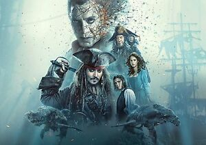 Pirates of the Caribbean Movie Large Poster Art Print 91x61 cm