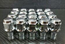 24 LUG NUTS ET CHROME BULGE ACORN 14X2.0 FOR FORD NAVIGATOR F-150 EXPEDITION