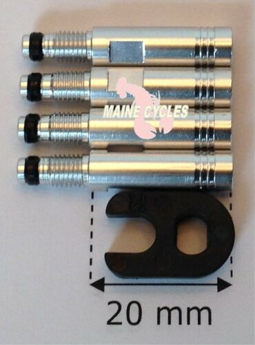Tufo 20mm presta valve extenders /& valve core tool 4 extenders per order