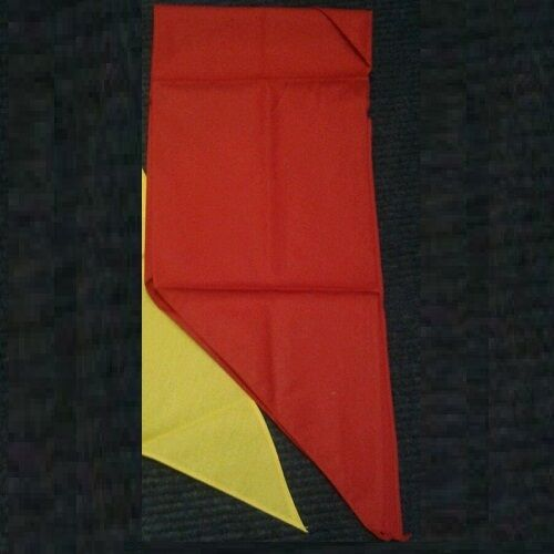 CUB Scout Sciarpa NECKER Giallo Limone Scarlet Rosso Navy Youth Divisa Ufficiale Nuovo
