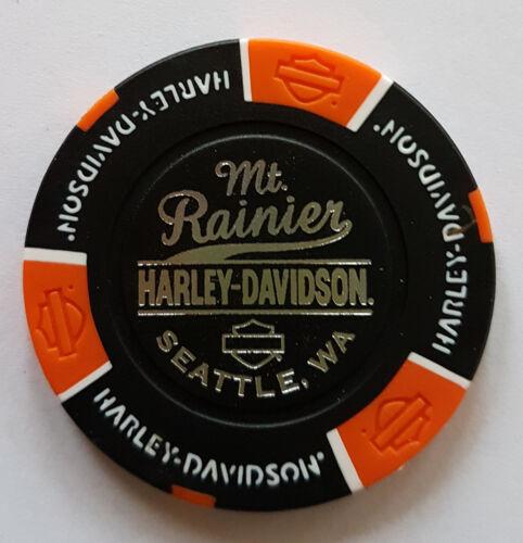 Seatle Wa Harley Davidson Poker Chip Mt Rainier