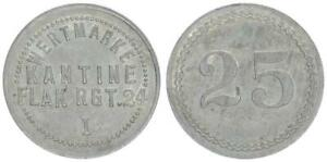 Iserlohn 25 Pfennig Kantine Flag Rgt 24 ss-vz 57399