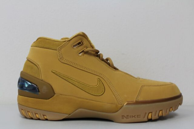 new concept 620b5 0fd16 Nike Mens Air Zoom Generation ASG QS Size 6 Lebron 1 Wheat Gold AQ0110-700