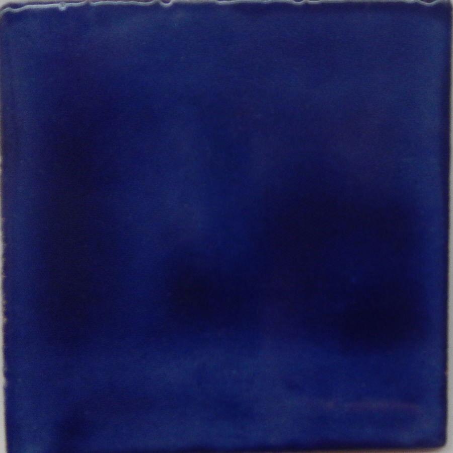 100 Mexican Talavera Plain Farbe Tiles Hand Painted Washed Blau