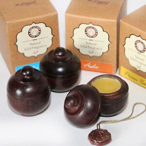 Parfuem-Solid-Parfum-Cremeparfum-100-Natur-Amber-Patchouli-Song-India-Holz-Topf