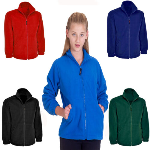 Childrens Fleece Jacket Age 2 to 13 Kids Boys Girls School Uniform Casual Coat
