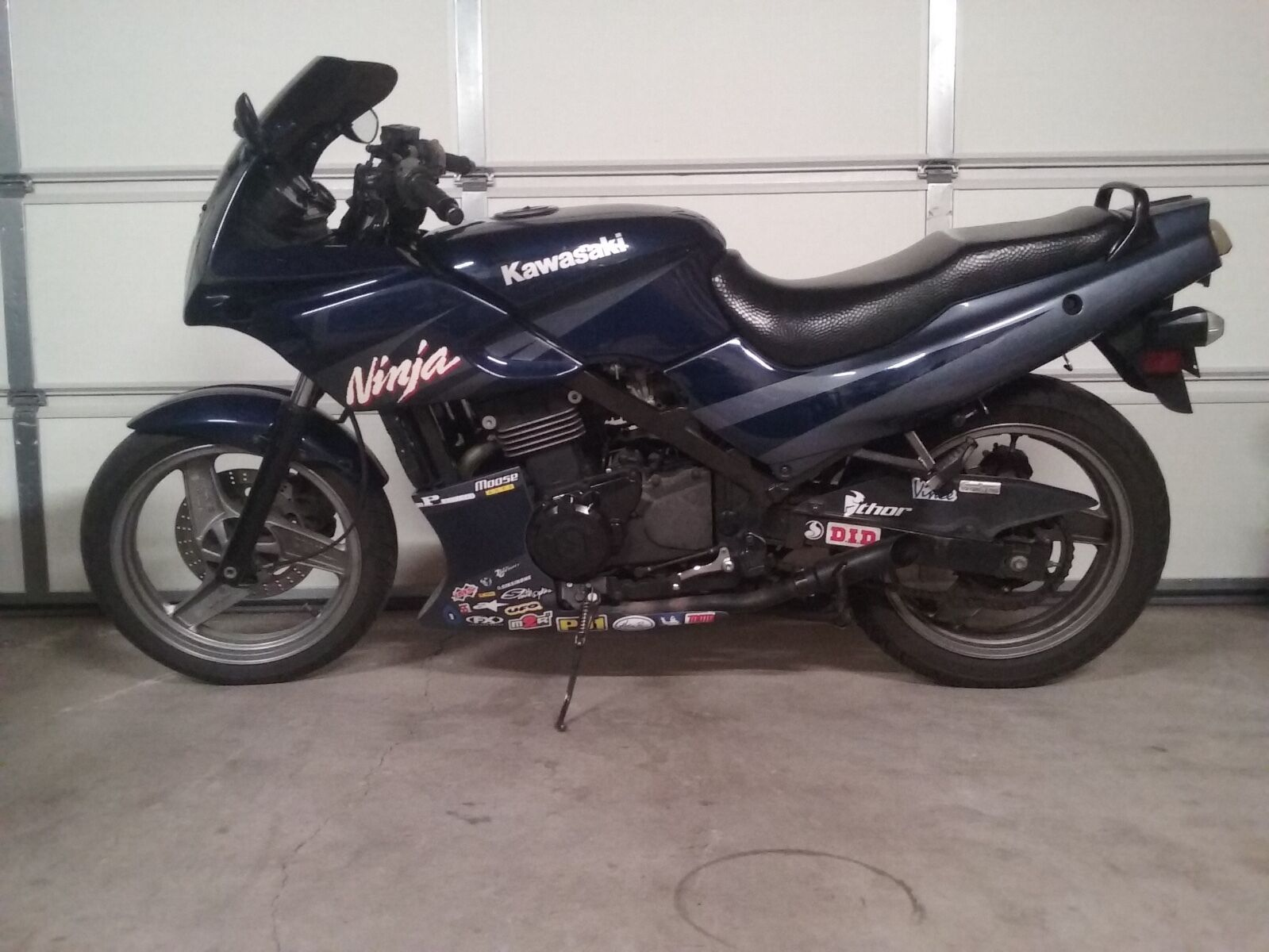 Radiant Cycles Shorty GP Exhaust for 1987-2009 Kawasaki Ninja EX500 500R Black
