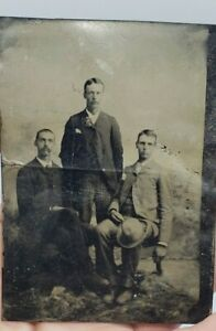Antique-Victorian-Tintype-Photograph-Men-Group-Photo-Brothers-2