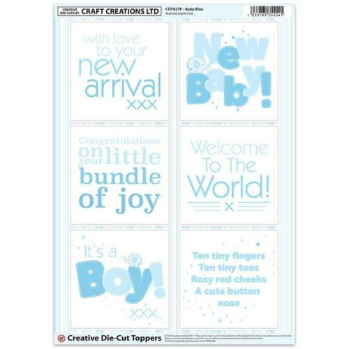 CRAFT CREATION BABY BLUE TOPPERS FOR CARDS /& CRAFT