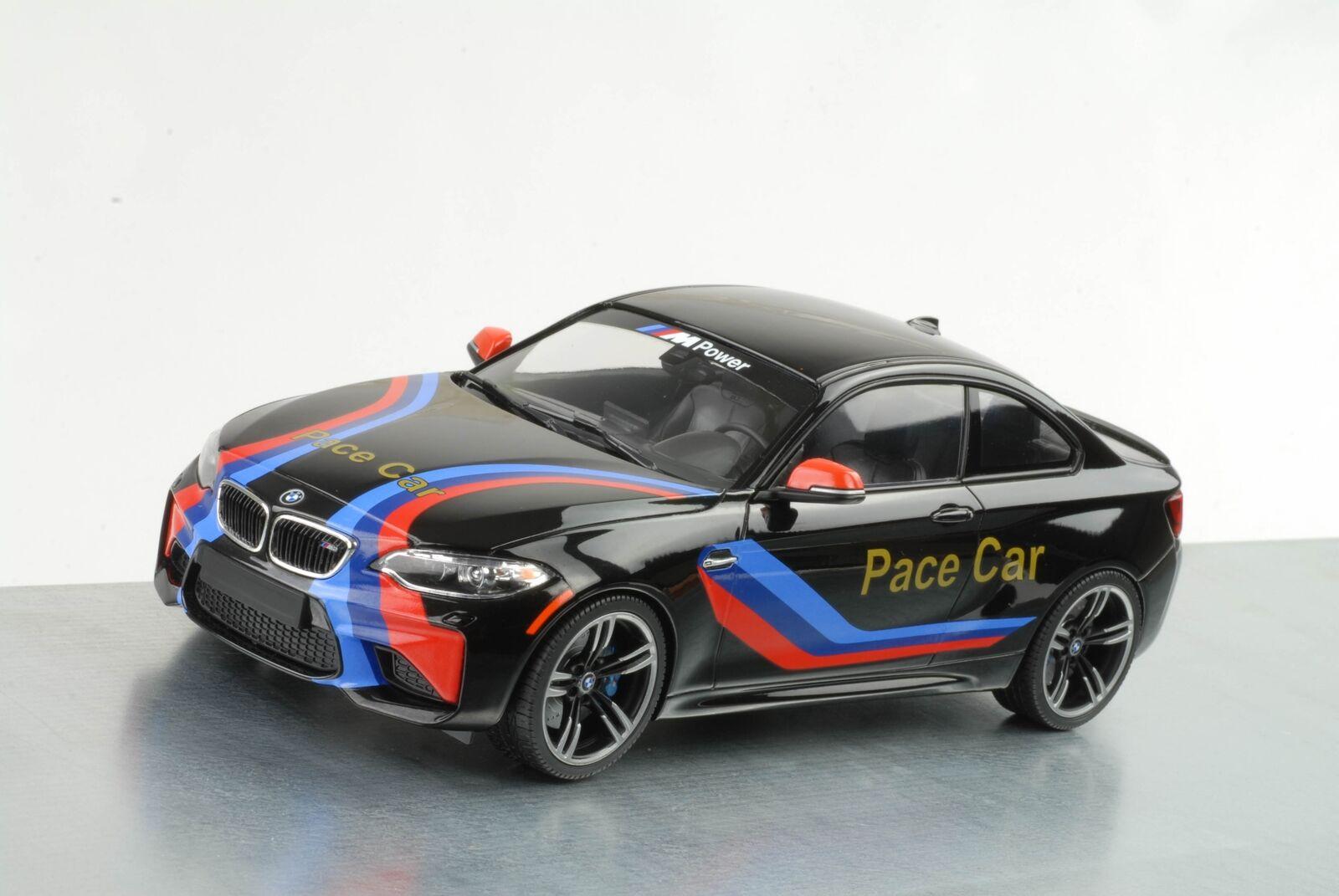 2016 BMW m2 COUPE PACE CAR NERO METALLIZZATO 1:18 Minichamps