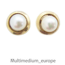 333 er Gold Ohrringe Ohr stecker Perle n Gelbgold 8ct 8kt gold earrings pearl s