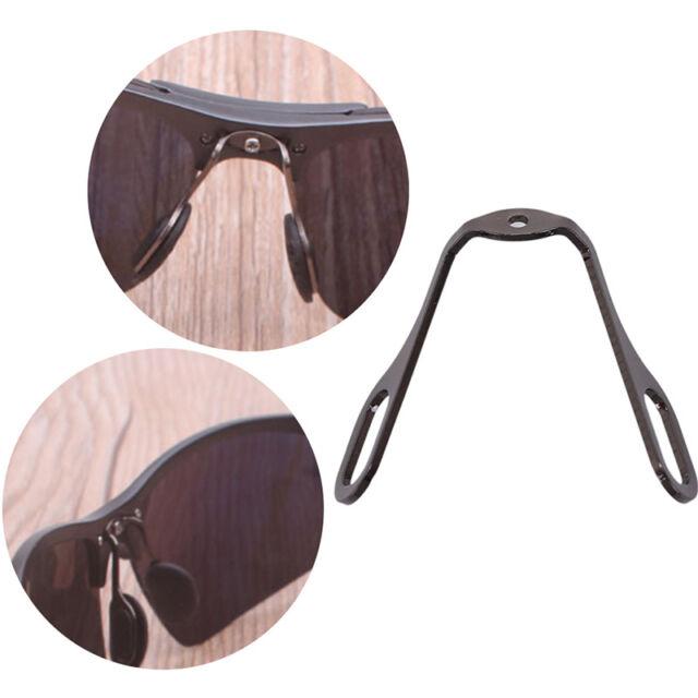 1X aluminum anti-slip stick on nose pads pad holder for eyeglass sunglasses FA