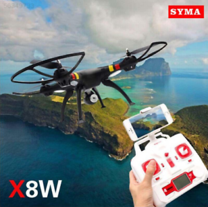 Negro Syma X8W FPV 2.4Ghz RC cuadrocóptero Drone uva 2MP Wifi Cámara RTF Vendedor de Estados Unidos