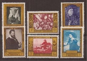Belgium**PAINTINGS-VAN EYCK-BOSCH-ENSOR-6vals-1958-Cat 12€-ART-Kunst-Peintures-