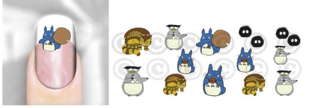Nail Decals Totoro Japan Anime #05 WaterSlide Transfer Adult Kid Peel n Apply
