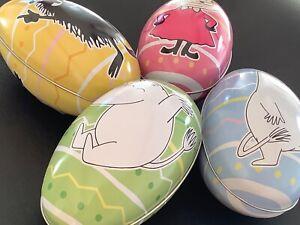 4 huevos de Pascua de estaño Moomin