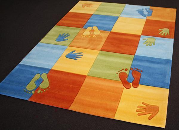 TAPPETO per Bambini 1802-03 mani piedi 160x220 cm1, 8cm  altezza
