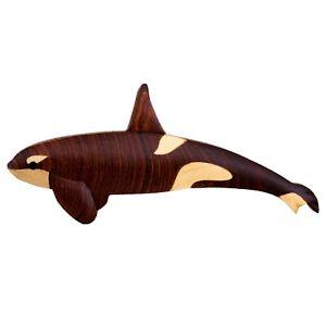 Killer Whale Pendant Killer Whale Magnet Killer Whale Cut Out Wooden Killer Whale for Crafts and Decorations