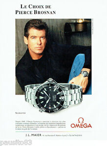 PUBLICITE ADVERTISING  026  2002  Omega montre Seamaster Pierce Brosnan
