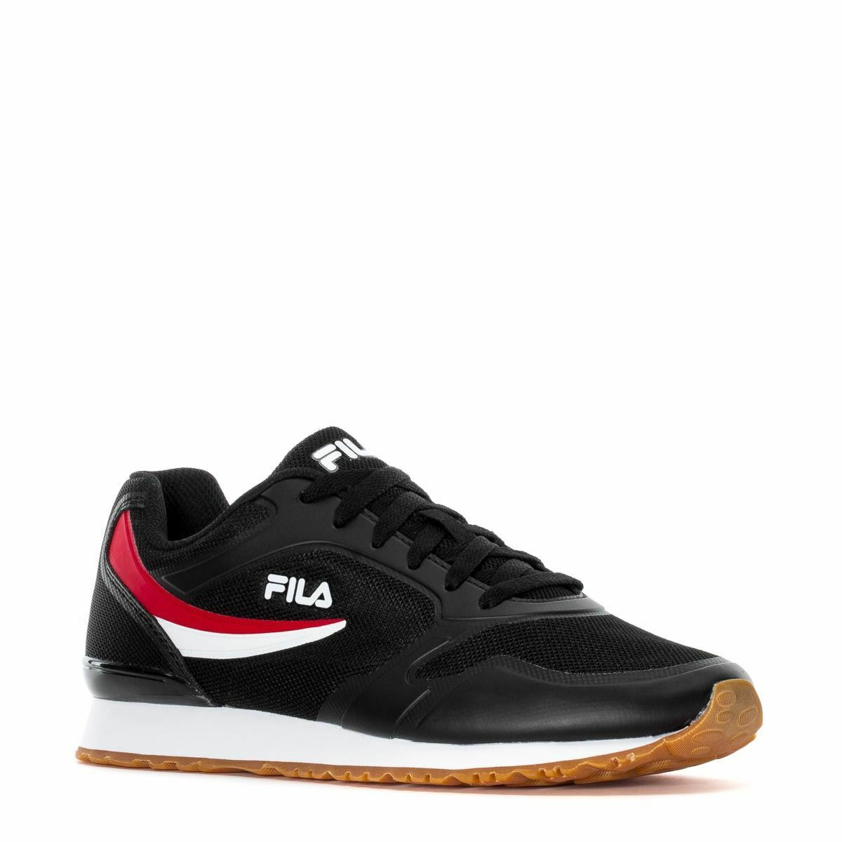 NEW MEN'S MEN'S NEW FILA FORERUNNER CLASSIC RETRO BLACK Weiß ROT LACE UP RUNNING SNEAKERS eb01f3