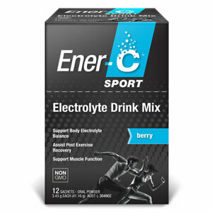 Ener-C Sport Electrolyte Drink Mix 12 Sachets - Berry Flavour Exercise Recovery