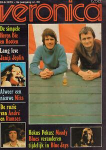 VERONICA 1975 nr. 20 -  VAN KOOTEN & DE BIE / JANIS JOPLIN / MOODY BLUES /SHAFFY