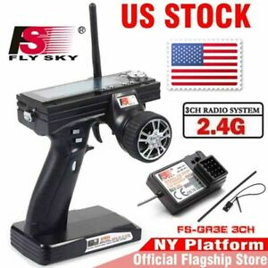 Flysky-FS-GT3B-2-4G-3CH-Transmitter-With-Receiver-Fail-Safe-For-RC-Car-Boat-US