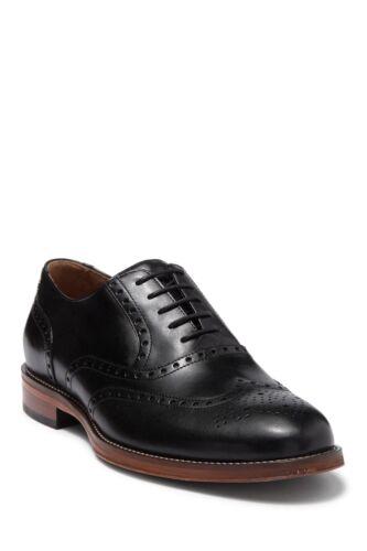 Johnston /& Murphy Men Wingtip Brogue Oxfords Dempsey Black Full Grain Leather