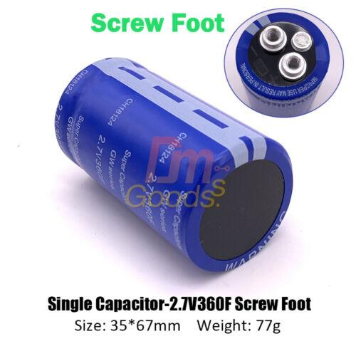 2.7V 360F New Version LOW ESR Super Farad Capacitor with Screw Foot 35*67mm
